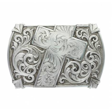 Montana Silversmiths Antique Walk Of Faith Cross Buckle