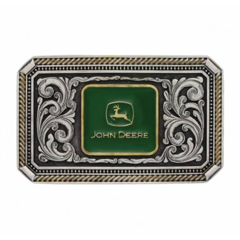 Montana Silversmiths Classic John Deere Engraved Logo Pinpoint Cameo Attitude Buckle
