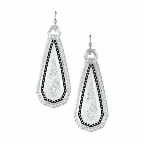 Montana Silversmiths A Fine Stitched Shard Filigree Drop Earrings
