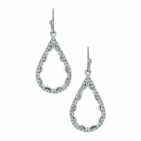 Montana Silversmiths Laced Cubic Zirconia Teardrop Earrings