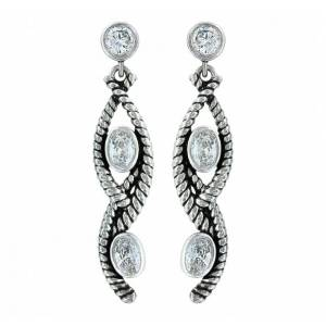 Montana Silversmiths Skipping Along Twisted Rope Cubic Zirconia Earrings