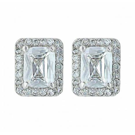 Montana Silversmiths Star Bright Star Light Emerald Cut Stud Earrings