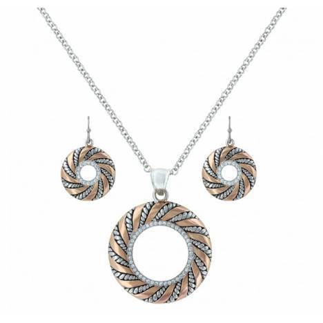 Montana Silversmiths Twisted Wreath Of Burnished Ribbon Jewelry Set