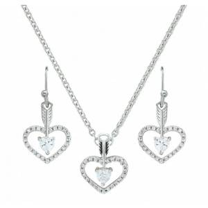 Montana Silversmiths Straight To The Heart Arrow Cubic Zirconia Jewelry Set