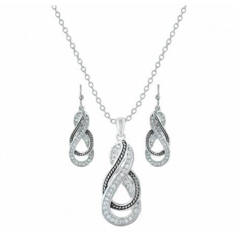 Montana Silversmiths Wrapped Up In You Twisted Dangle Jewelry Set