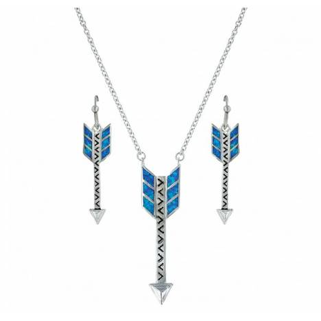 Montana Silversmiths Sky Fletched Opal Arrow Jewelry Set