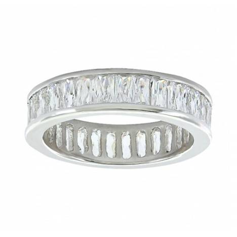 Montana Silversmiths Rippling Stream Of Light Baguette Ring