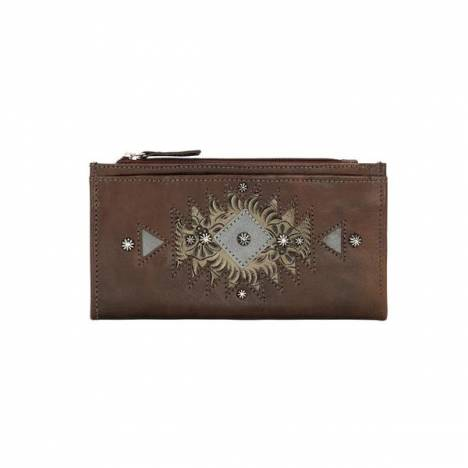 American West Foldover Fancy Design Wallet