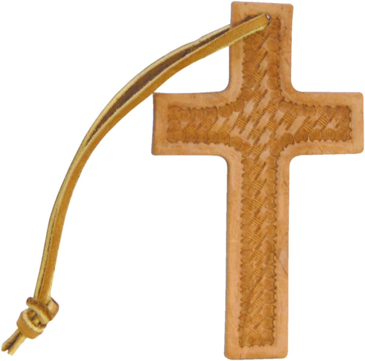 Action Basket Weave Leather Cross