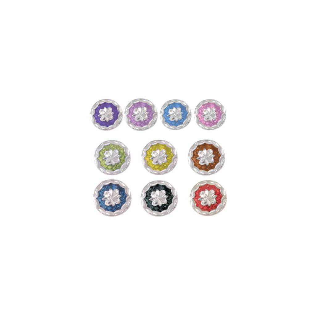 Action Colored Floral Wood Screw Concho