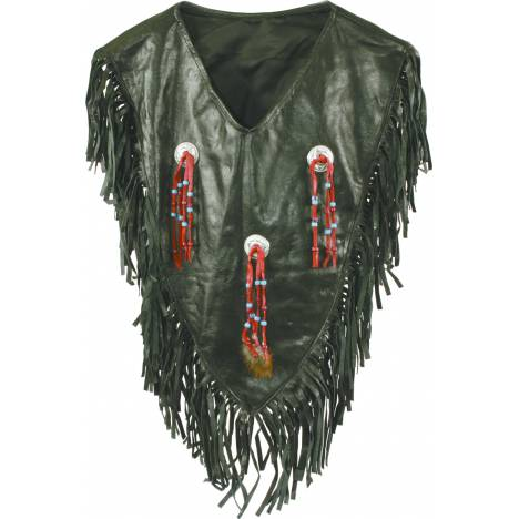 Action Shirt Yoke With Conchos & Fringe