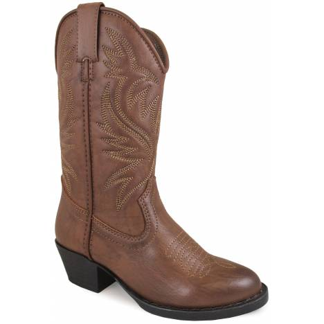 Smoky Mountain Trenton Western Boots - Youth - Brown