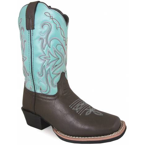 Smoky Mountain Del Ray Square Toe Boots - Childrens - Brown/Turquoise