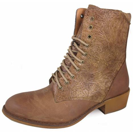 "Smoky Mountain Lacer 7"" R Toe Synthetic Boots - Ladies - Brown"