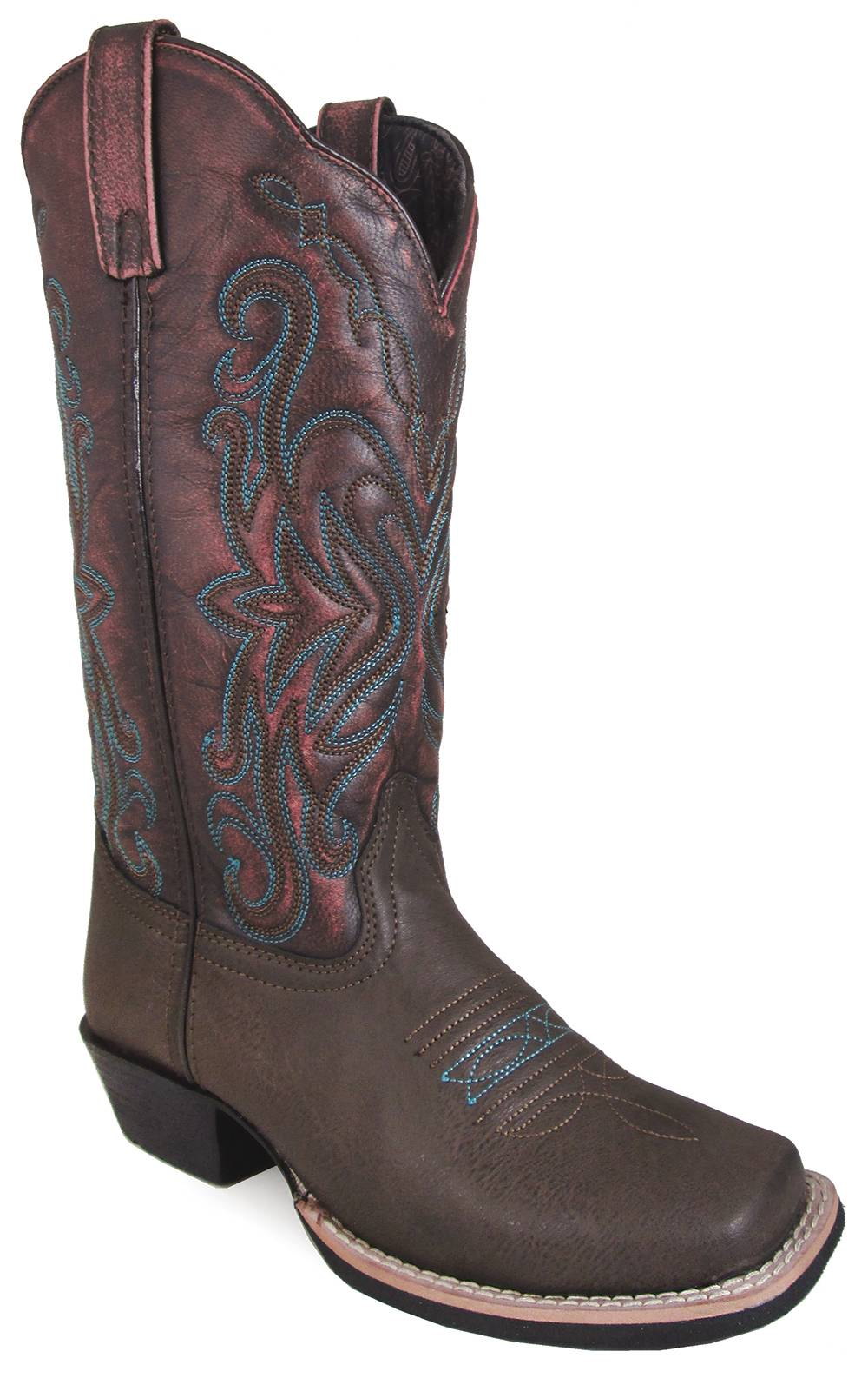 Smoky Mountain Fusion 2 Square Toe Boots - Ladies - Brown/Vintage Red