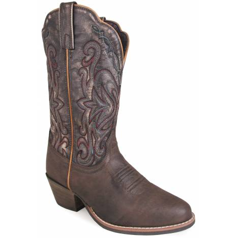 Smoky Mountain Fusion 1 Western Boots - Ladies - Brown/Vintage Black
