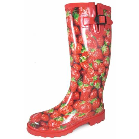 "Smoky Mountain 15"" Rubber Boots - Ladies - Strawberry Print"