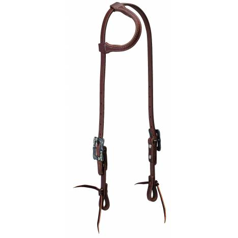 Weaver Protack Sliding Ear Browband Headstall Oiled Russet