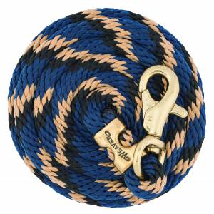 Weaver Poly Lead Rope With Brass Plated Bull Trigger Snap