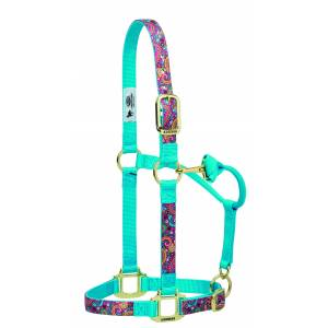 Weaver Nylon Paisley Adjustable Chin And Throat Snap Horse Halter