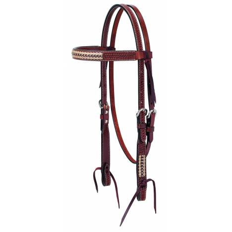 Weaver Basketweave Rawhide Accents Browband Headstall
