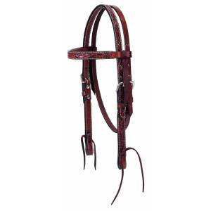 Weaver Floral Carved Pony Browband Headstall
