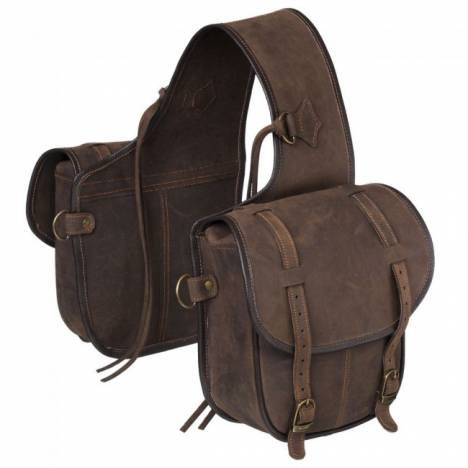 Tough-1 Tough-1 Soft Leather Tie on Horn Bag