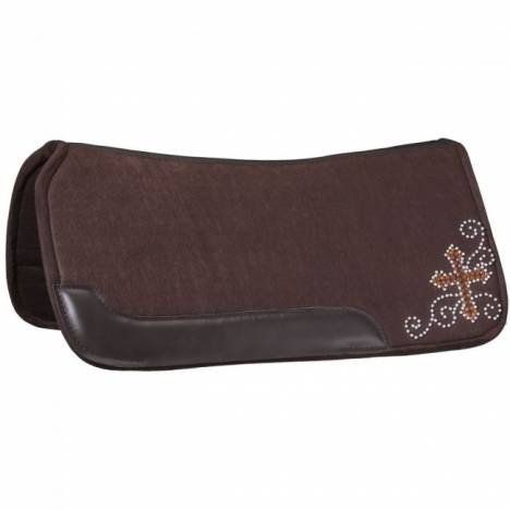 "Tough 1 Contour Felt 3/4"" Saddle Pad - Crystal"
