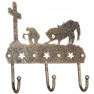 Tough-1 3 Hook Rack With Equine Motif And Glitter Finish - Cowboy Prayer