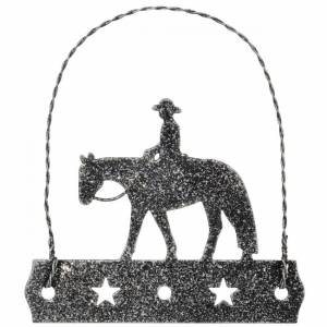 Tough-1 Equine Motif Ornament With Glitter Finish - Western Pleasure