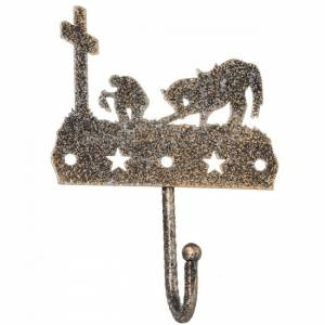 Tough-1 Single Hook With Equine Motif And Glitter Finish - Cowboy Prayer