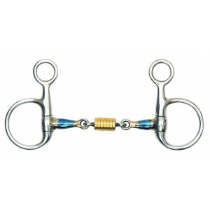 Shires Blue Sweet Iron Hanging Cheek Roller Bit