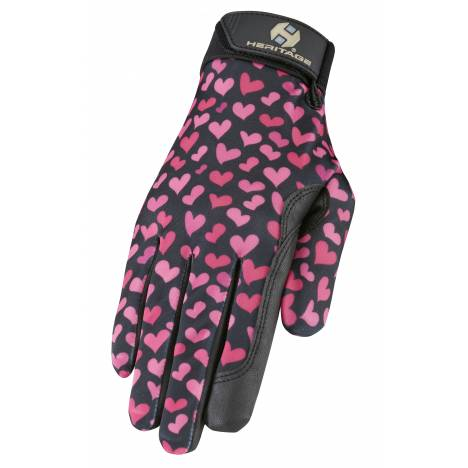 Heritage Performance Print Gloves - Hearts