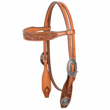Martin Rockin Out Concho Browband Headstall- Indian Head