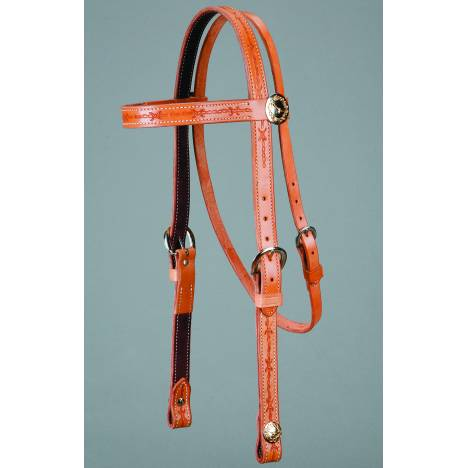 Colorado Saddlery Barbwire Concho Browband Headstall
