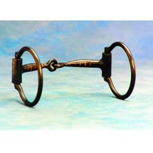 Colorado Saddlery Black Steel Inlaid Copper Mouth Snaffle Bit