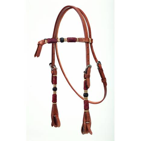 Colorado Saddlery Futurity Headstall With Rawhide Overlay