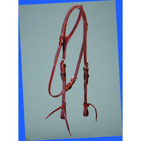 Colorado Saddlery Latigo One Ear Headstall - Laced Ends