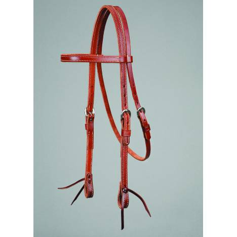 Colorado Saddlery Mahogany Leather Browband Headstall