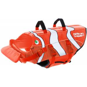 Outward Hound Fun Fish Life Jacket With Dual Rescue Handles