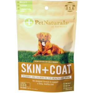 Pet Naturals Of Vermont Skin + Coat Chews For Dogs
