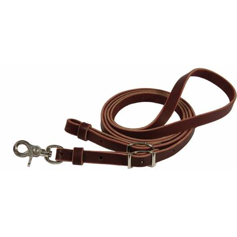 Circle Y Brass Harness Leather Contest Rein