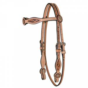 Reinsman Gag Cheek Copper Spots Browband Headstall