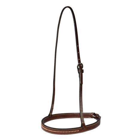 Reinsman Bridle Leather Noseband with Copper Spots