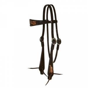 Reinsman Sharon Camarillo Feather Headstall