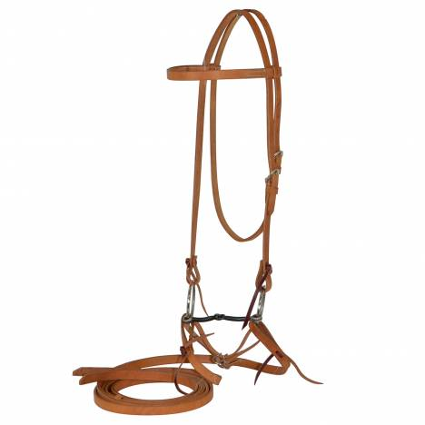 Reinsman Diamond R Loose Ring Snaffle Bit Browband Bridle Set