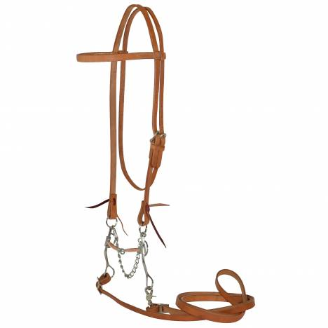 Reinsman Diamond R Argentine Bit Harness Leather Browband Bridle Set