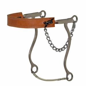 Reinsman Diamond R Flat Leather Nose Hackamore