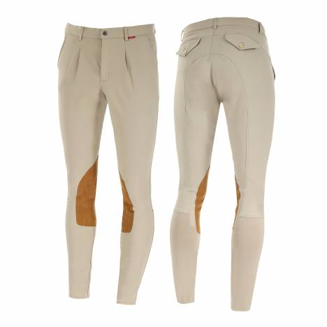 B Vertigo Sander Faux Leather Knee Patch Breeches - Mens