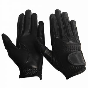 Equine Couture Leather Summer Gloves- Girls